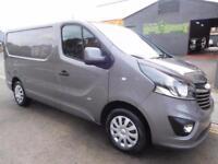 NO VAT! Vauxhall Vivaro SWB 1.6CDTi BiTurbo Sportive 6 seat crew vans (12)