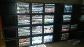 dvd's and shelves