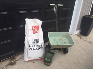 20kg new grass seed and two spreaders