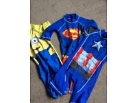 Three UV 50+ protection swimsuits aged 4-5 Years