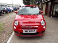 FIAT 500 1.2 S 3d 69 BHP 12 MONTHS MOT AND ROAD TAX! (red) 2013