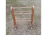 Pine towel rail