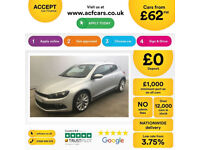 Volkswagen Scirocco GT FROM £62 PER WEEK!