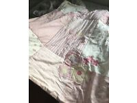 Baby Girls Bedding Embroidered Quilt + free blankets,5 items, from mothercare etc.
