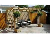 Garden wooden pergola 3m x 2m