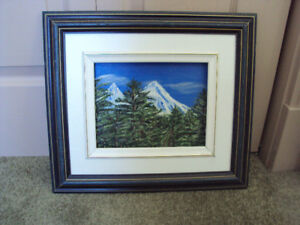 """14"""" x 16"""" framed original oil painting 'Mountain View'"""