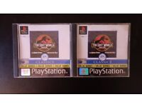 Sony Playstation 1 games 2x The Lost World Jurassic Park USED (PS1G1)
