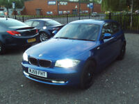 BMW 1 SERIES 118d SE 2.0 DIESEL 3DR 6 SPEED EXTRAS DVD XENONS LONG MOT FULL SERVICEHISTORY CHEAP TAX