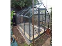 10ftX6ft green aluminium frame greenhouse