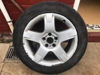 """SET OF 4 AUDI 17"""" ALLOY WHEELS (SEE PICTURE) 5x112 pcd"""