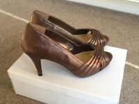 Peep toe shoes (size 4)