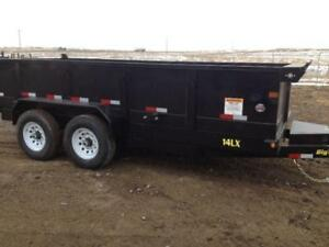 Big Tex 7x16 Dump Trailer (Bumper Pull) - Loaded