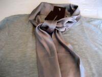 Twin Set - Elegant Silk Grey Set, NEW with Tags, Size 18 - Designer Lasserre
