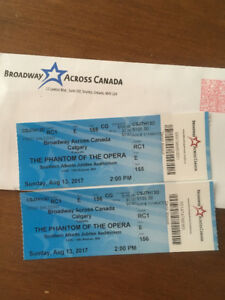 Phantom of the Opera 2 tickets