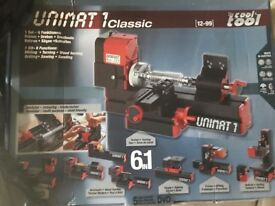 Unimart kit 6 functions tool milling turning wood turning drilling sawing sanding brand new in box