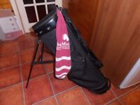 A Golf Carry Bag. with integrated Stand,