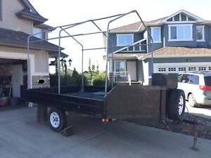 8x13 Quad/sled trailer with tent frame