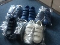3xblue next trainers, 1x White next trainers and 1 x dark blue next trainers never been worn
