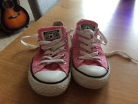 Pink Converse, size 12.5 - only worn a couple of times