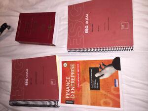 Livre MET1300,JUR1031, MKG3300 et FIN3500