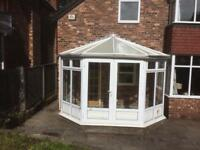 FREE White upvc conservatory.