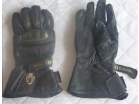 Leather Richa biking gloves