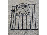 Lightweight but sturdy wrought iron gate.