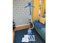 HOME PURE VERTICAL CLOTHES & FABRIC STEAMER + ACCESSORIES. HARDLY USED. £30 ONO