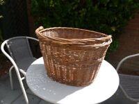 Vintage Wicker Basket For Sale
