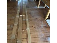 200MTRS OF HARDWOOD TIMBER £1.50 per mtr