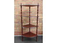 Quadrant corner unit - mahogany colour 4 shelves