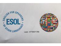 English Teacher-ESOL-Private Tuition North London (Barnet) £18 per hour.