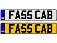 FAST TAXI CAB a private number plate