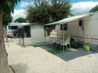 eccles sterling touring caravan presently at camping la torreta in benidorm