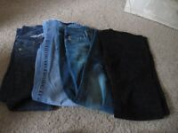 Flare Jeans size 8 eight pairs good condition, various colours