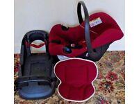 Mothercare Ziba Car Seat Group 0 to 13kg & Belted Base Unit - Burgundy