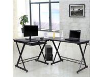 Black Corner Desk - Can Deliver