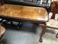 Dining table Chippendale x4 chairs