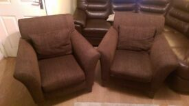 Pair of Next armchairs