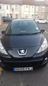 Peugeot 207 Verve - Black - Petrol 1.4 - Low Mileage - Low Price