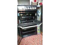 Indesit ITL50GK 50cm Double Cavity Gas Cooker Black - 1 year old, perfect condition