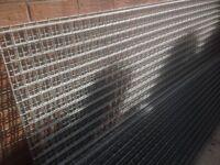 "Galvanised wire mesh panels 1"" squares"