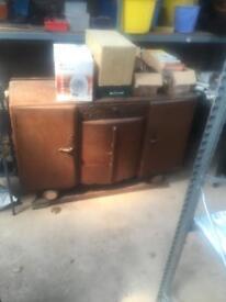 very old side board cupboard