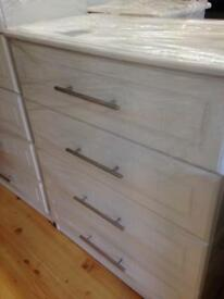 White four drawer chest £170