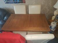 4ft solid oak table