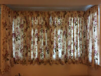 Curtains 2 sets ideal for bay window