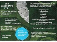 RELIABLE GARDENING SERVICES WITH REASONABLE PRICES (E&B LANDSCAPE LTD.)