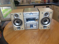 jvc midi hifi 50 watts cd player radio.casstte good sounding system.