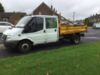 Ford transit crewcab tipper double cab mk7