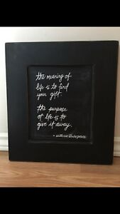 Framed Picture.   The meaning of life.
